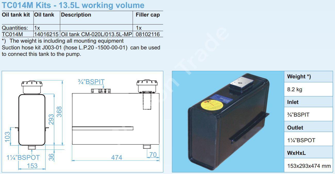 140-16-215 Масляный бак CM-020L013.5L-MP