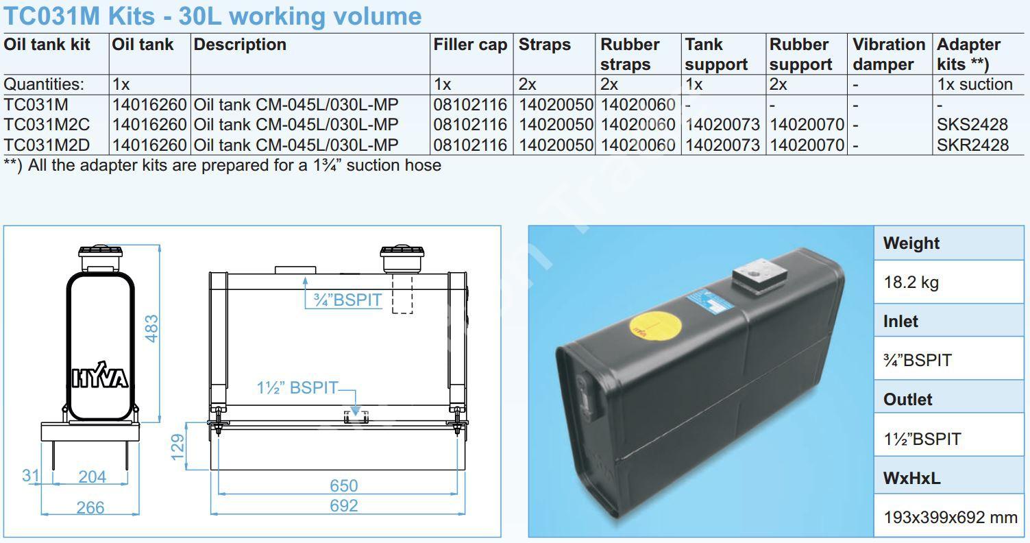 140-16-260 Масляный бак CM-045L030L-MP