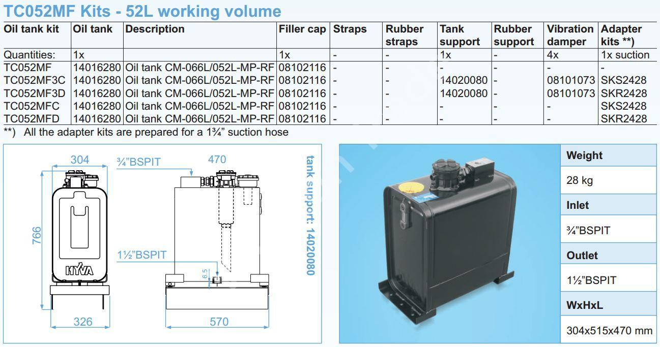 140-16-280 Масляный бак CM-066L052L-MP