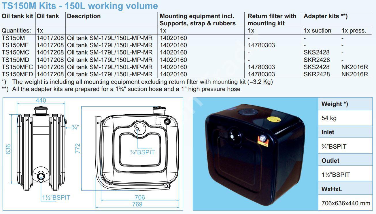 140-17-208 Масляный бак SM-179L150L-MP-MR