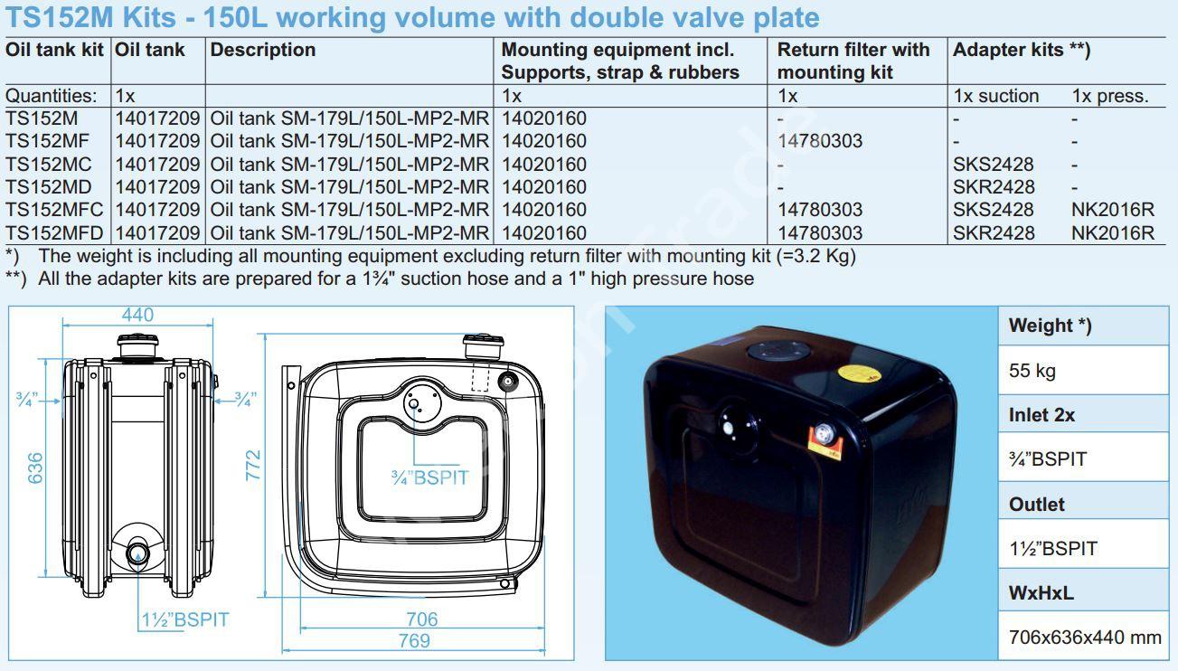 140-17-209 Масляный бак SM-179L150L-MP2-MR